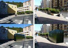 Infografía de cómo quedaría el aseo frente al colegio San Lorenzo, opción que no se va a llevar a cabo.