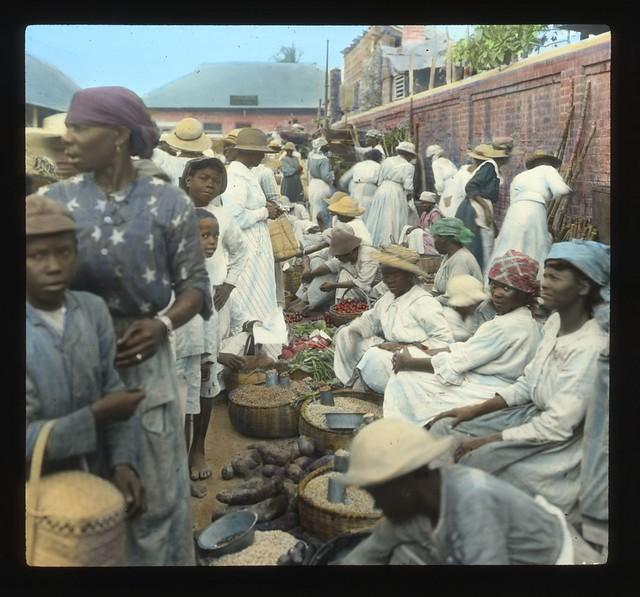 Market, Kingston, Jamaica, ca 1890