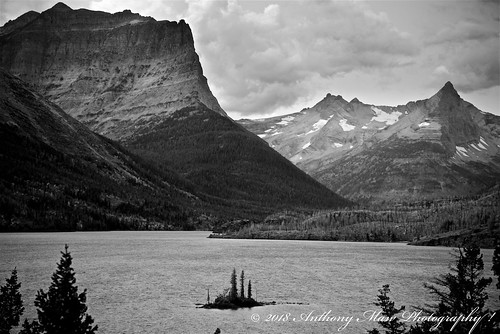 anthonymaw forest island lake landscape monochrome montana mountains nationalpark rugged tourism travel unitedstates usa wilderness
