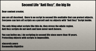The Anti Rezz Lie | [ ---------- english ---------- ] Dear C