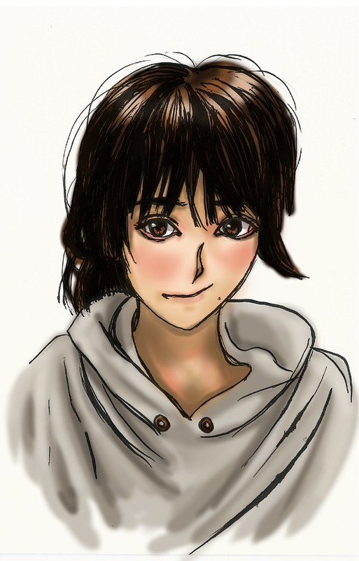 Sayu pen work I digitally painted simple