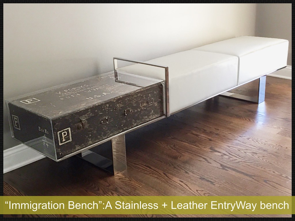 Super Immigration Bench A Stainless Leather Bench I Designe Lamtechconsult Wood Chair Design Ideas Lamtechconsultcom