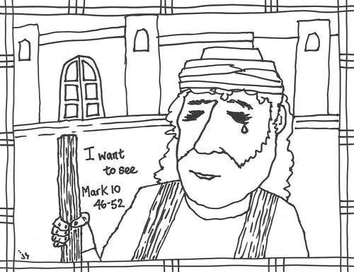 Bartimaeus coloring page