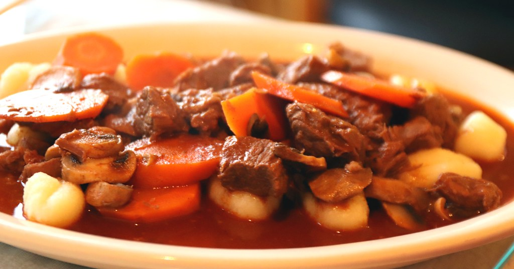 Goulash ~ Savory beef stew with mushrooms and carrots