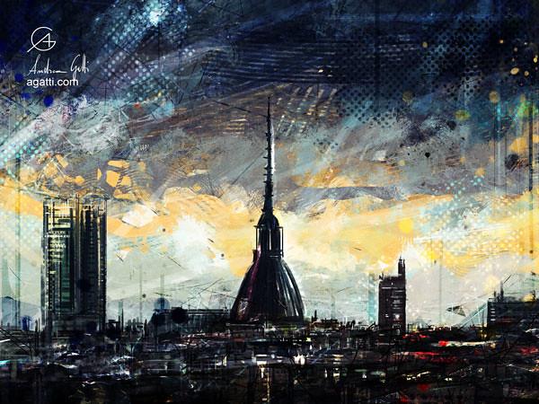 Turin Dark Skyline