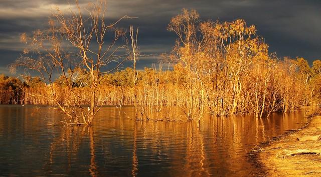 Storm Clouds over Hattah Lake, Hattah-Kulkyne National Park, Victoria, Australia