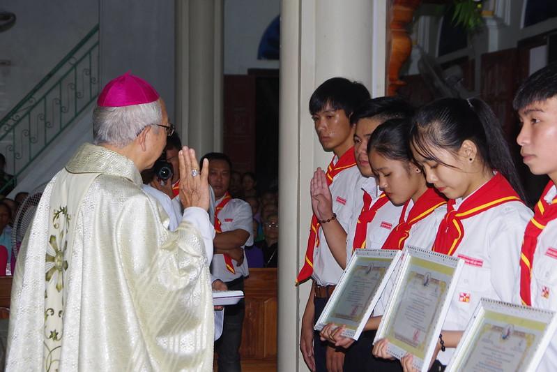 Lễ ra mắt TNTT xứ  đoàn Đa Minh Tân Phong, QB (6)