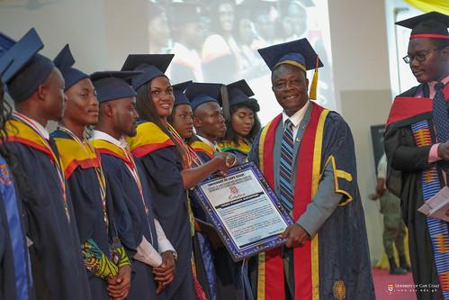 Prof. George K. T. Oduro, Pro-Vice-Chancellor, University of Cape Coast, presenting a citation to a graduand.