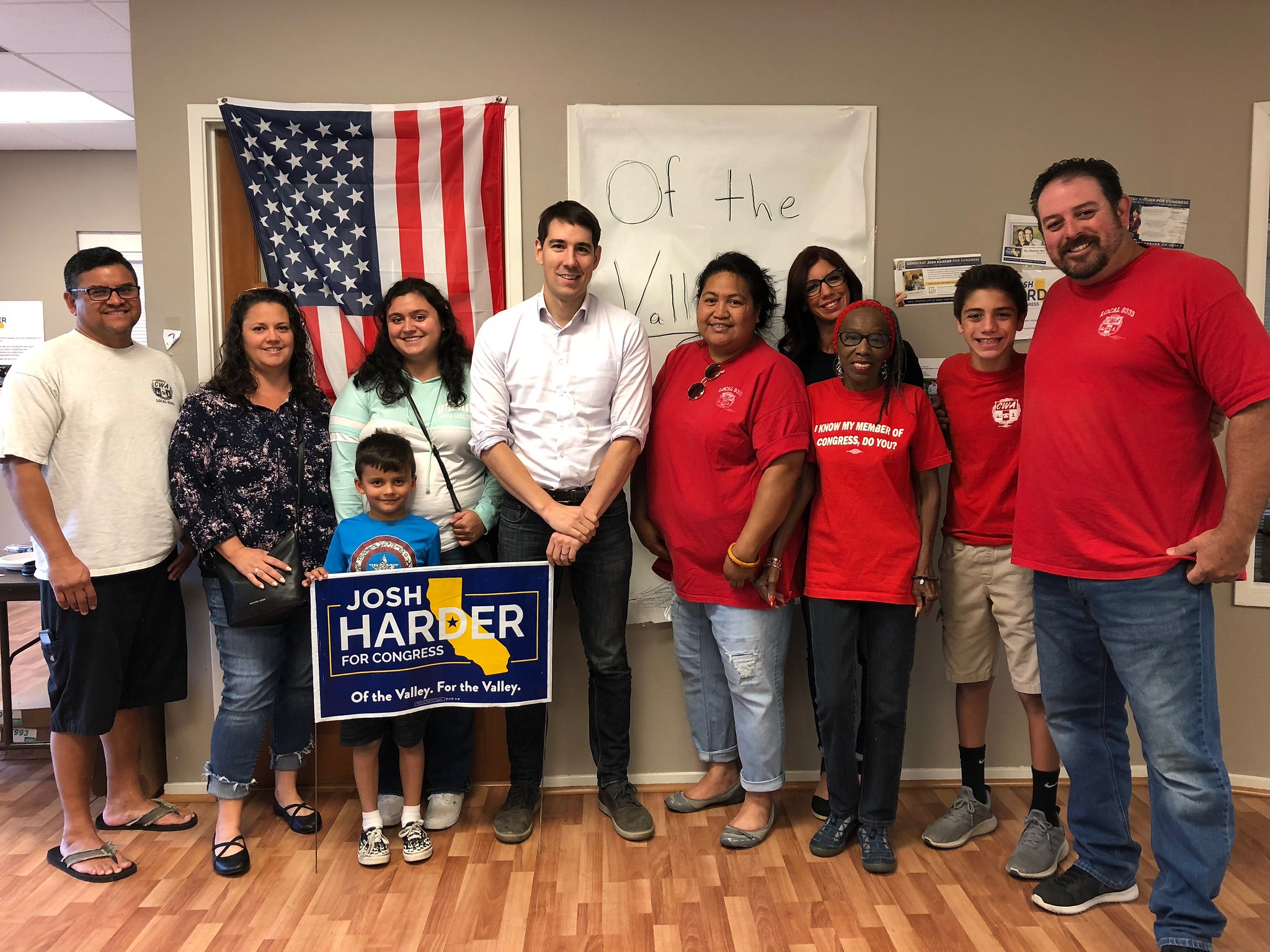Local 9333 met with Candidate for Congress Josh Harder