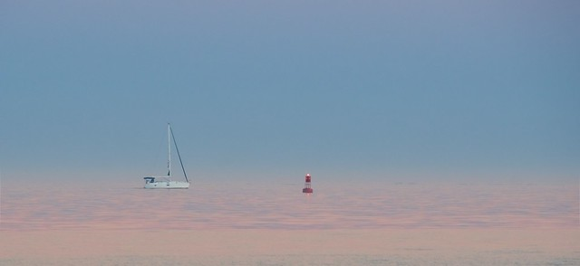 Sailboat and LIghted Buoy...  EXPLORED- 9-22-'18