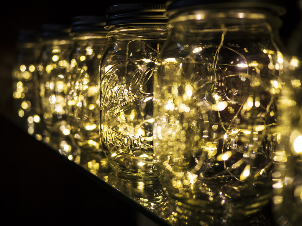 Image result for fairy light jar