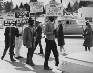 Fair housing protest in Lake City, 1964