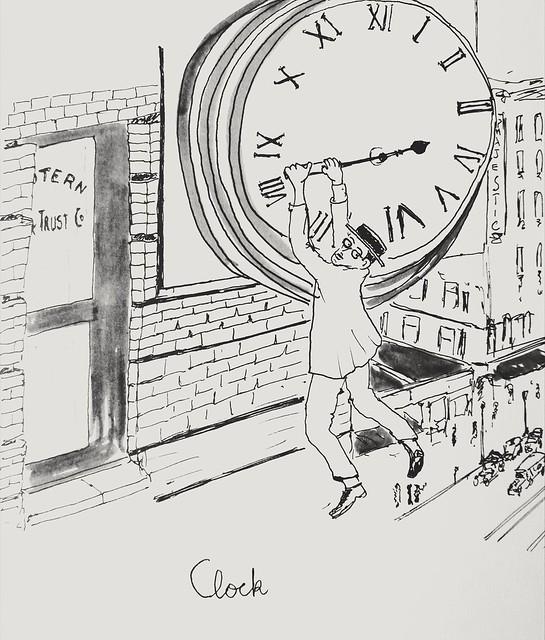 Inktober 2018 #14, Clock