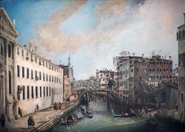 Il Rio dei Mendicanti de Canaletto (Grand Palais, Paris)