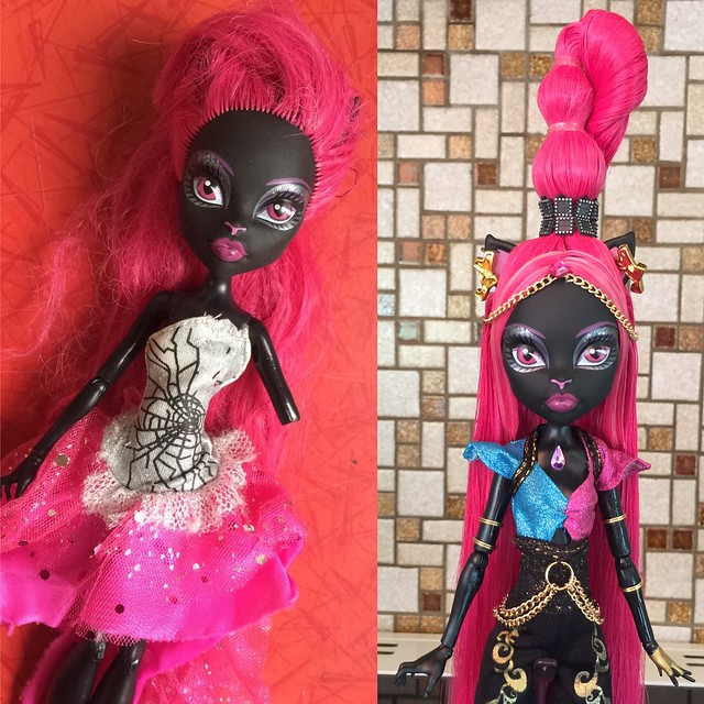 Before - After - Catty Noir Signature turned into Catty/Gigi Freaky Fusion