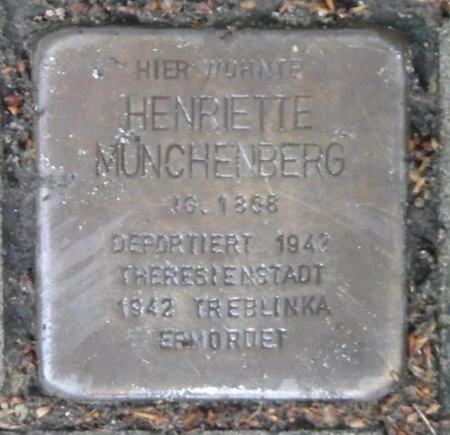 HENRIETTE MÜNCHENBERG * 1868 Johnsallee 21 (Eimsbüttel, Rotherbaum)