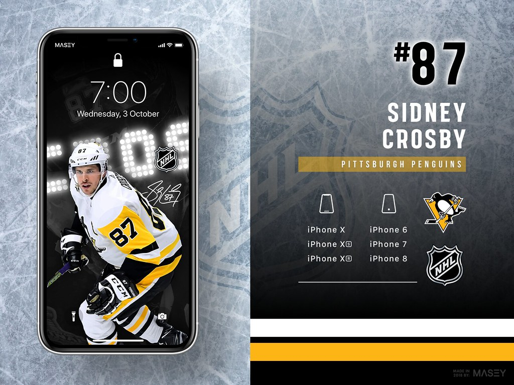 Sidney Crosby (Pittsburgh Penguins) iPhone Wallpaperr