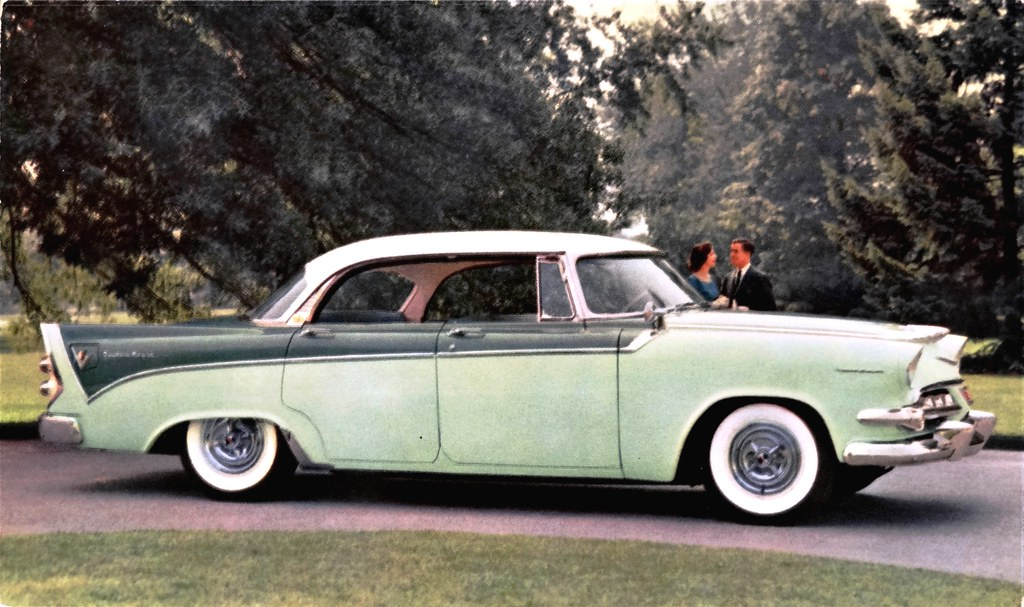 Dodge Dealership Houston Tx >> 1956 Dodge Custom Royal Lancer 4 Door Advertising Postc Flickr