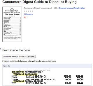 Kelvenator Foodarama Price Guide   by missmturner