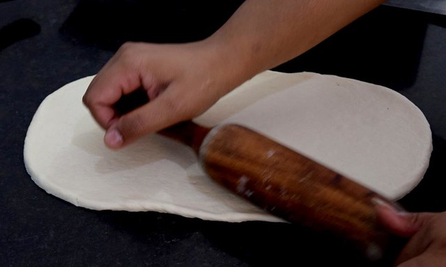 Dough sheet for Persian Flatbread Nan-e-Barbari