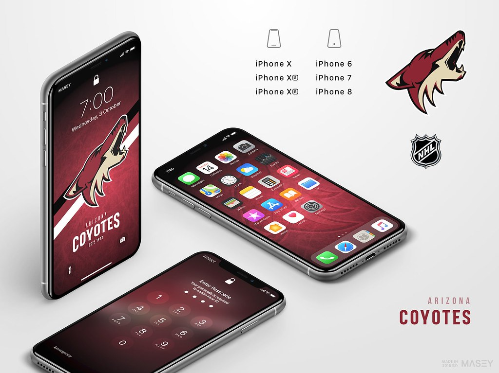 Arizona Coyotes iPhone Wallpaper