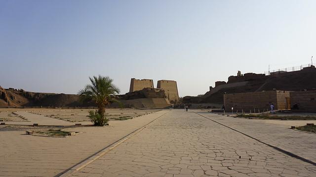 The Temple of Horus in Edfu, Nile River, Egypt.