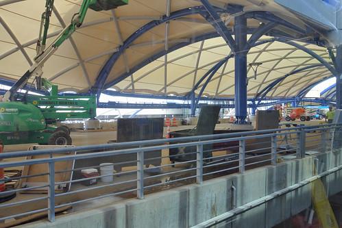 ROC Greater Rochester International Airport Upper Level Roadway Construction 2018 Sept 27
