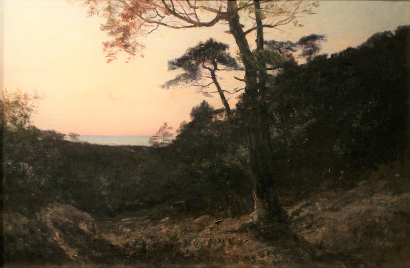 """Louis Augustin Auguin(1824 Rochefort-1903 Bordeaux) """"Dans la dune (Arcachon)""""-(1877- exposé au Salon des Amis des Arts de Bordeaux en 1878)"""