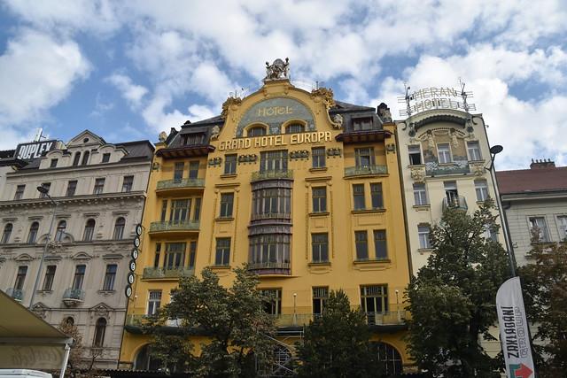 Hotel At Wenceslas Square, Prague, Czech Republic.