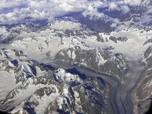 Aerial view of Samudra Tapu glacier !!