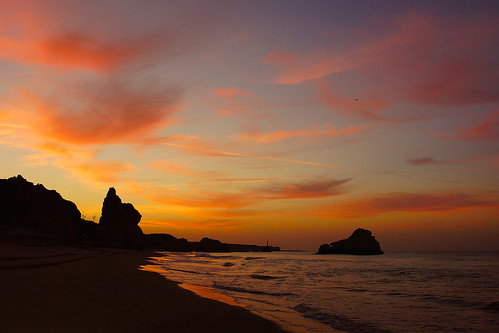 portugal algarve coast coastline mar meer sea küste sony alpha sunrise sunset abendrot morgenrot sonnenaufgang red sonne beach sand