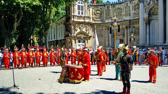 Istanbul, Janissaries at Dolmabahçe Palace
