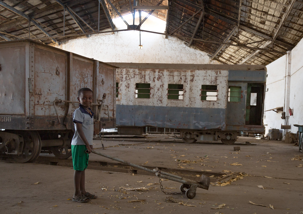 Kid playing inside the abandoned ethio-djibouti railway st… | Flickr