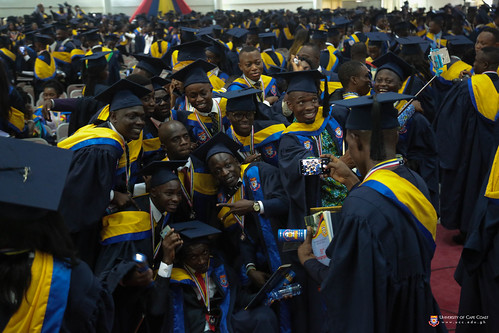 Students taking pictures after the programme