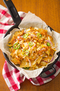 Hawaiian Barbecue Chicken Skillet Nachos | by Isabelle @ Crumb
