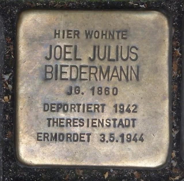 JOEL JULIUS BIEDERMANN * 1860 Seilerstraße 33 (Hamburg-Mitte, St. Pauli)