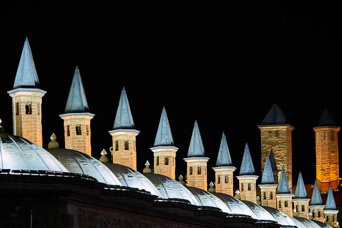konya mevlana rumi celaleddin türkiye sercantırnavalı gece manzara night landscape town scape nightshot