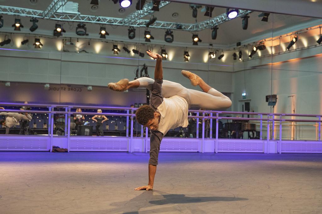 Joseph Sissens in rehearsal for jojo, World Ballet Day 2018 © 2018 ROH. Photograph by Andrej Uspenski