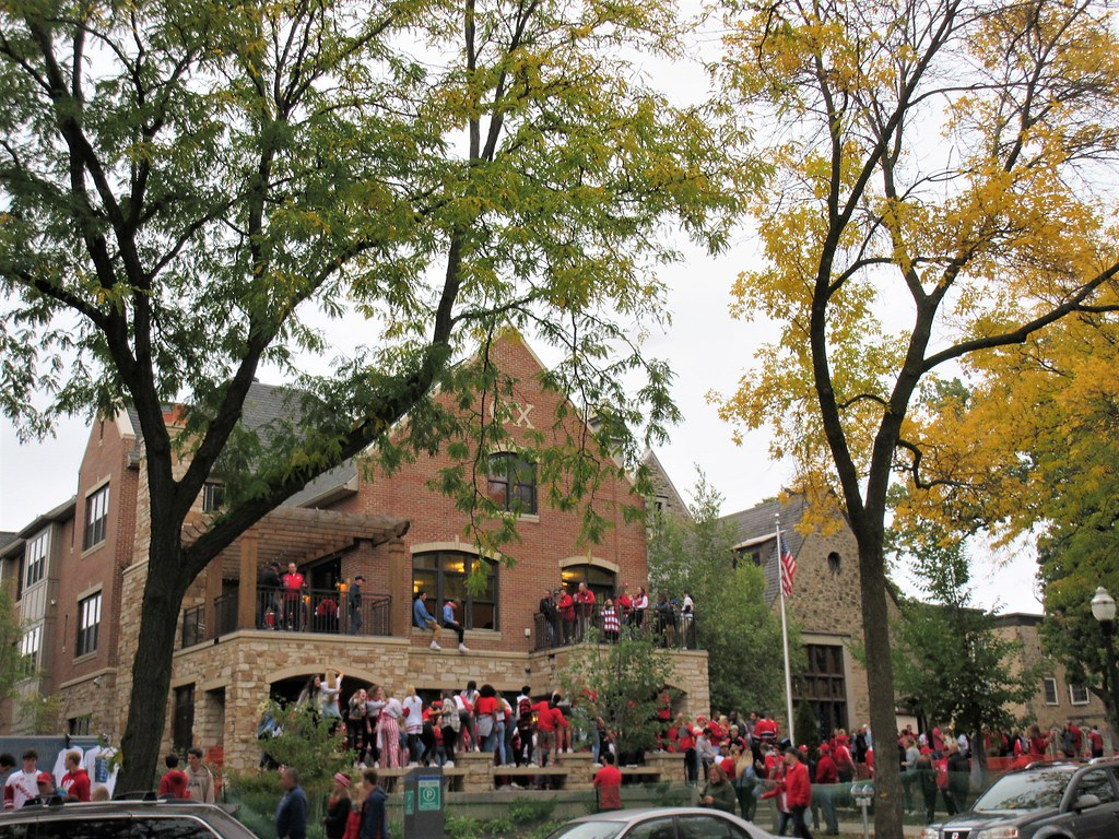 Party at Theta Chi fraternity, Langdon Street, Madison, Wi