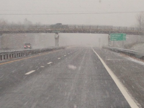 snow snowstorm maine i95 maineturnpike october2018 autumn