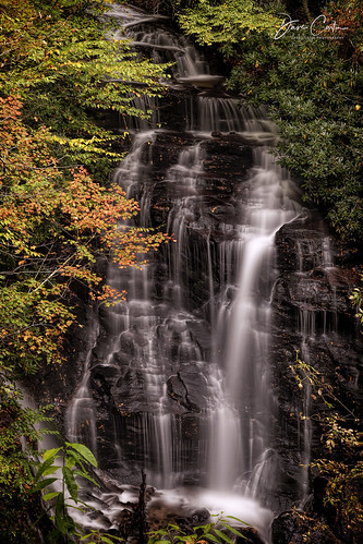 longexposure blue ridge mountains falls stream river fall autumn northcarolina
