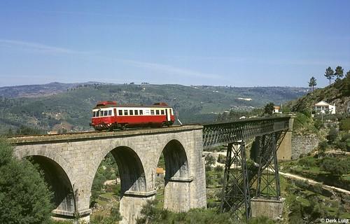 cp class 300 allan benespera linha da beira baixa ponte dos gogos guarda covilhã viaduct viaducto broad gauge breitspur breedspoor portugal