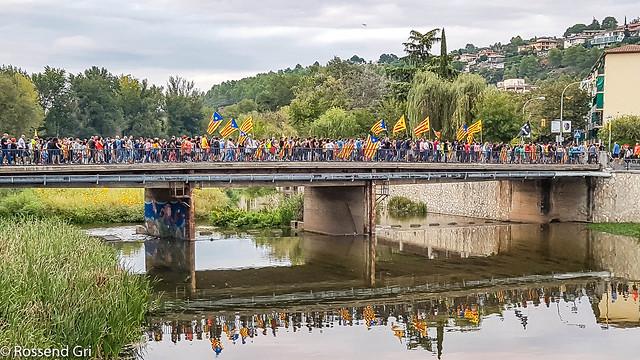 Girona - Protesta Violència 1Octubre 2017