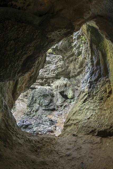 Pocket Falls arch, Pigeon Mountain, Crockford Pigeon WMA, Area, Walker County, Georgia 2