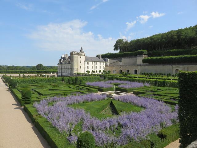 Castle of Villandry. The gardens.