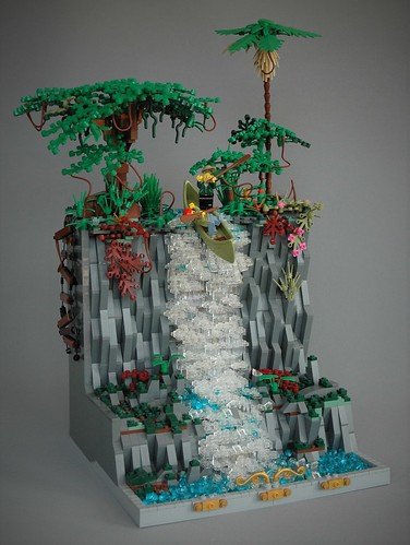 Adventure at the waterfall - AFOL vs AFOL 2018