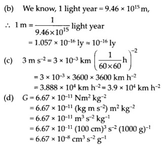 NCERT Solutions for Class 11 Physics Chapter 2 Units and M