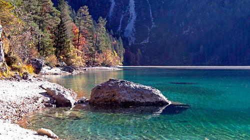 italy trentino alps rhaethianalps brentadolomites mountains lakes autumn