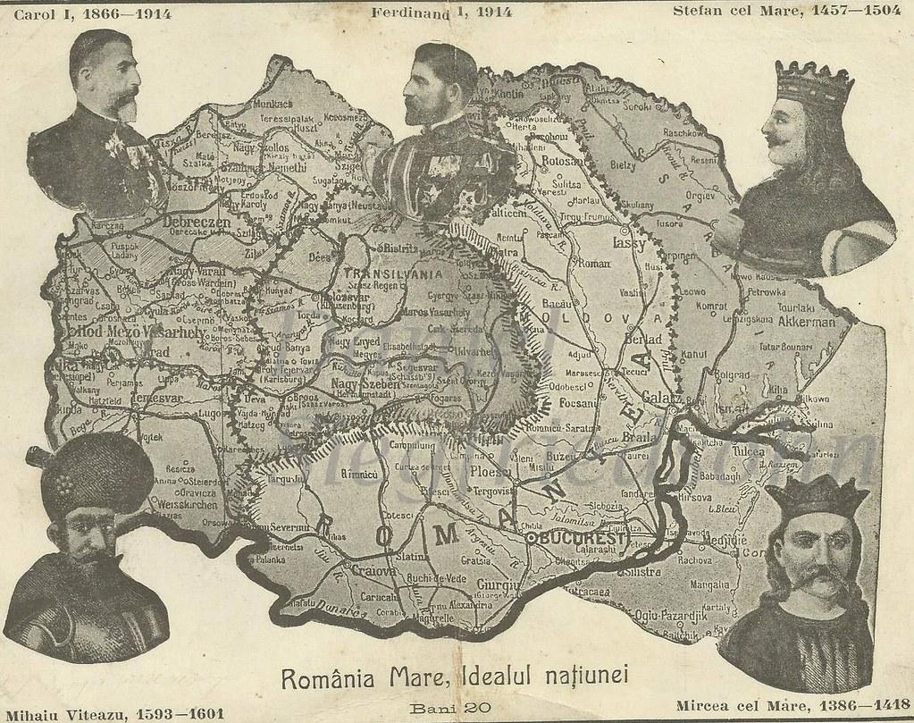 """ROMÂNIA MARE, IDEALUL NAȚIUNEI"""". Hartă apărută la început…   Flickr"""
