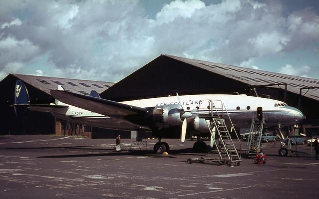 G-ASYF. ACE Scotland Lockheed L.749A Constellation - Explored